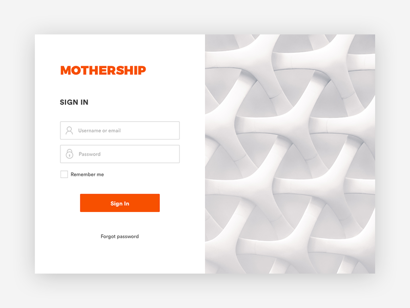 Sign In Form orange creative design flat sign in in progress project ui ux web design