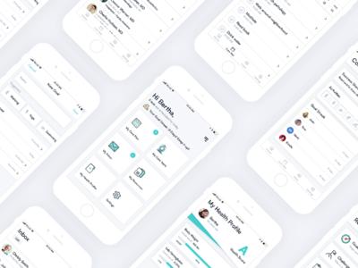 Healthcare App Design app app design iphone ui ux healthcare health teal flat clean