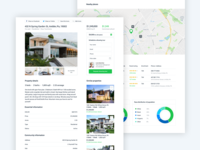 Real Estate Details web design ux ui project house home design details real estate green