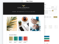 Style Guide - Financial Services graphic design luxury gold style guide style branding website ui ipad web design app