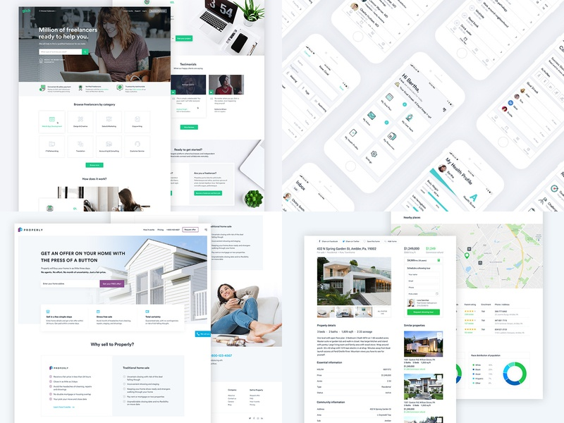 2018 top 4 2018 project creative website popular app design app green real estate top ui web design home page homepage