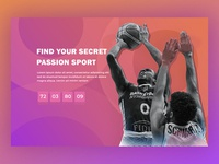 Basketball Landing Page Concept