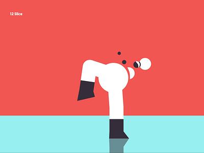 12 Slice karate fun character animation rig kick ninja design illustration duik motion animation motion graphics motion design animation after affects