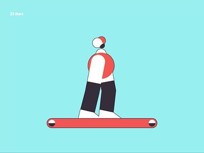 22 Start running woman humour character design character animation duikbassel walk cycle run cycle illustration duik motion animation motion graphics motion design animation after affects