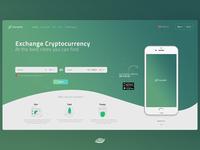 Changelly website concept
