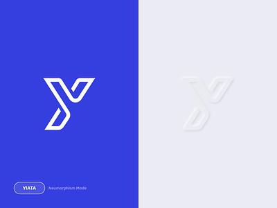 Yiata Logo graphic design graphic article design art designer design neumorphism flight hotel travel logo