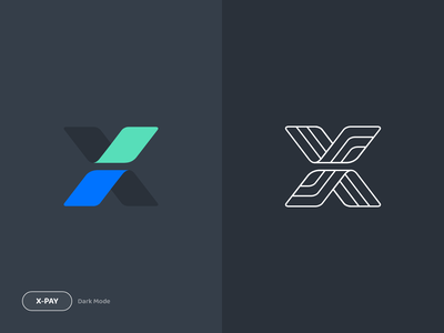 X-Pay Logo art graphic design graphic product cryptocurrency crypto wallet crypto money payment bitcoin pay logo