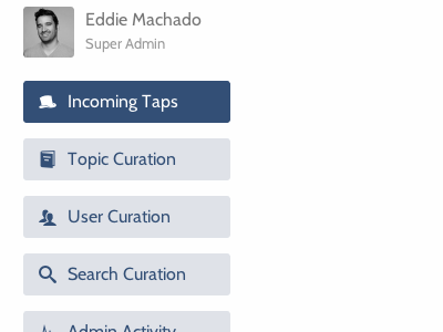 Admin Links admin blue icons