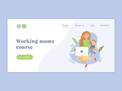 Working moms course landing page illustration