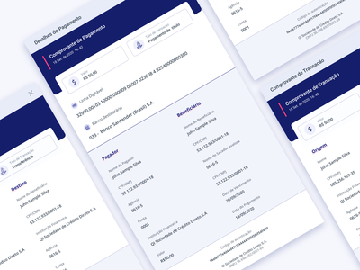Transaction Receipt bank receipt transition web ui ux design