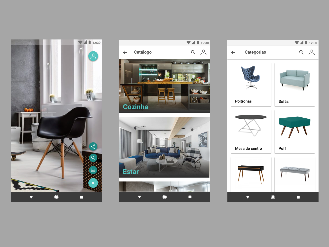 App for furniture android aplicativo ux ui