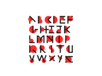 Not Box Alphabet Font