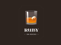 Ruby on Rocks - sticker