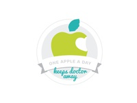 One Apple a Day - sticker