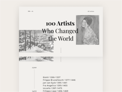 100 Artists Who Changed the World // 100 - A.