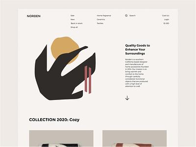 NORDEN layout minimalist design black nordic minimalist minimal uidaily branding uiux website landing page promo homepage design ux ui
