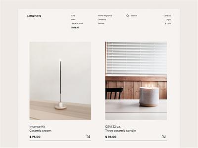 NORDEN clean ui layouts ui design minimalist promo website uiux branding landing page minimal homepage design ux ui