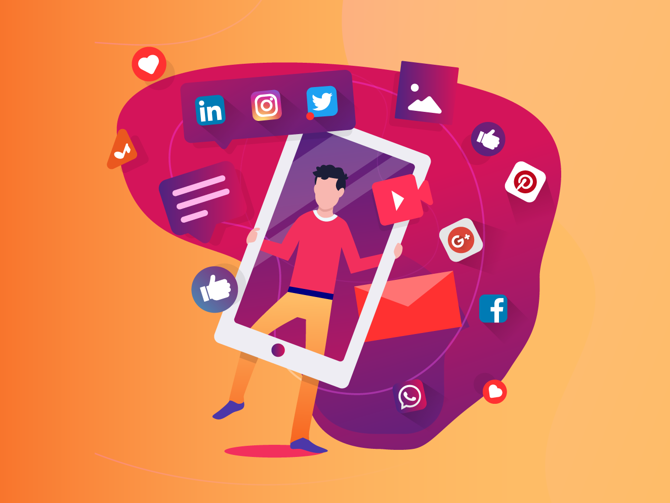 Image result for social media illustration