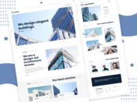 Archisens Architect Agency Landing Page