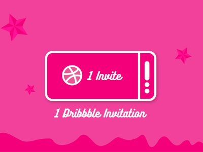 dribbbleinvite 01 illustrator vector illustration ui mobile typography logo icon branding app design