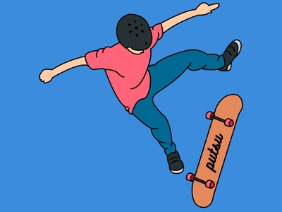 skateboardblue illustrator minimal animation logo app icon branding illustration vector design
