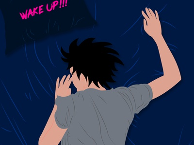 wake up 01 2d design 2d illustration 2d bedtime sleep 2d art 2d character wakeup artist art characters character design illustrator illustrations design vector