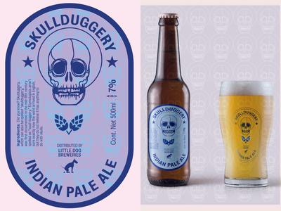 Skullduggery beer label