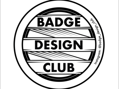 Badge Design Club badge vector art vector adobe illustrator illustrator badge logo design instagram logomark logo badge design