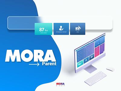 Mora Parent Portal Dashboard design branding logo ui motion graphics graphic design 3d animation minimalistic cartoon comic vector graphic  design design illustration