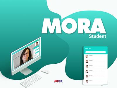 Mora Student Dashboard UI UX ux branding ui minimalistic cartoon comic logo vector graphic  design design illustration