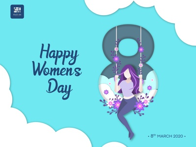 HappyWomen's Day 2020 slstudioss happywomensday womansday happy illustration vector sahillalani grapicdesign creative dribbble best shot