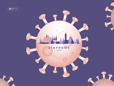 Stayhome2020 -  Coronavirus dribbble sahillalani slstudioss coronavirus stayhome grapicdesign vector illustration dribbble best shot creative