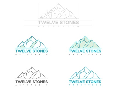 Twelve Stones Logo Design grapicdesign branding slstudioss sahillalani adobe illustrator creative logodesign logo dribbble best shot illustration