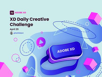 Adobe XD Daily Creative Challenge April 29 sahil lalani slstudioss adobe xd adobexd xddailychallenge grapicdesign vector illustration sahillalani dribbble best shot