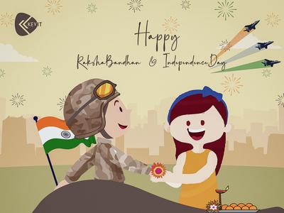 Happy Raksha Bandhan & Independence Day