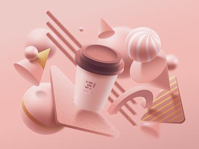 Coffee Lovers dribbble dribbble best shot 3d 3d art coffee slstudioss sahillalani illustration grapicdesign vector creative