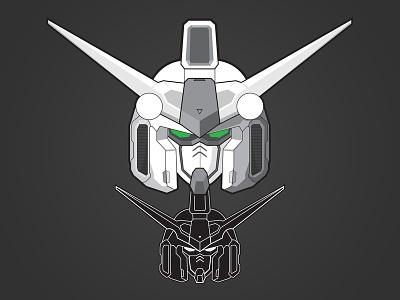 Gundam GP01 Vector Trace illustration vector