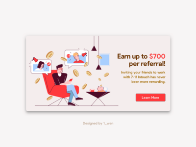 Referral Reward Illustration ui illustration