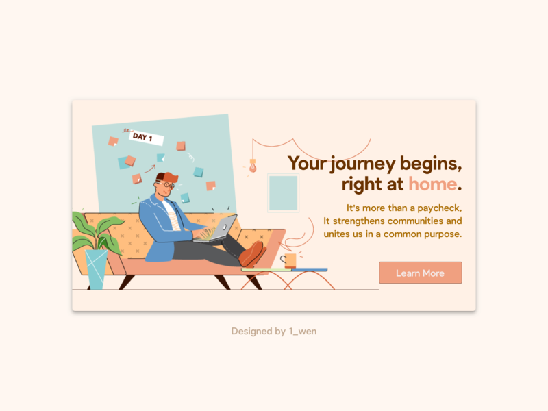 Remote Employee Onboarding Banner covid19 illustration ui