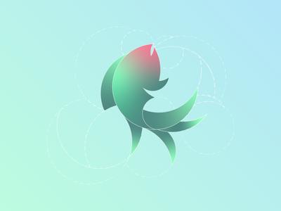 Goldfish Logo Design w/ Golden Ratio