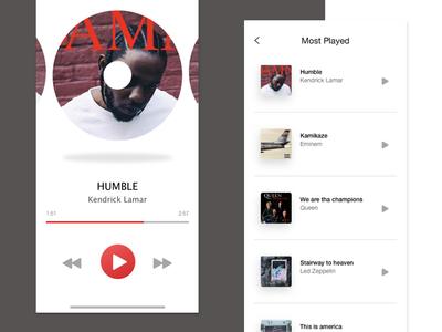 Minimalist Music Player