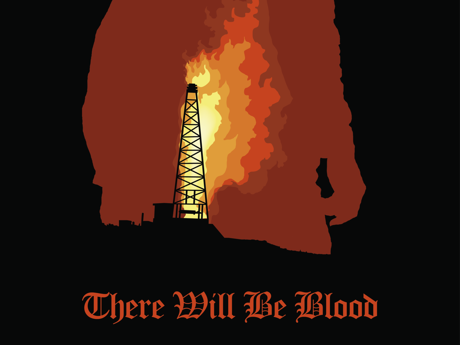 There Will Be Blood Alternative Movie Poster By Joonas Tielinen