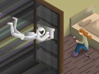 Interstellar - Bookshelf Scene