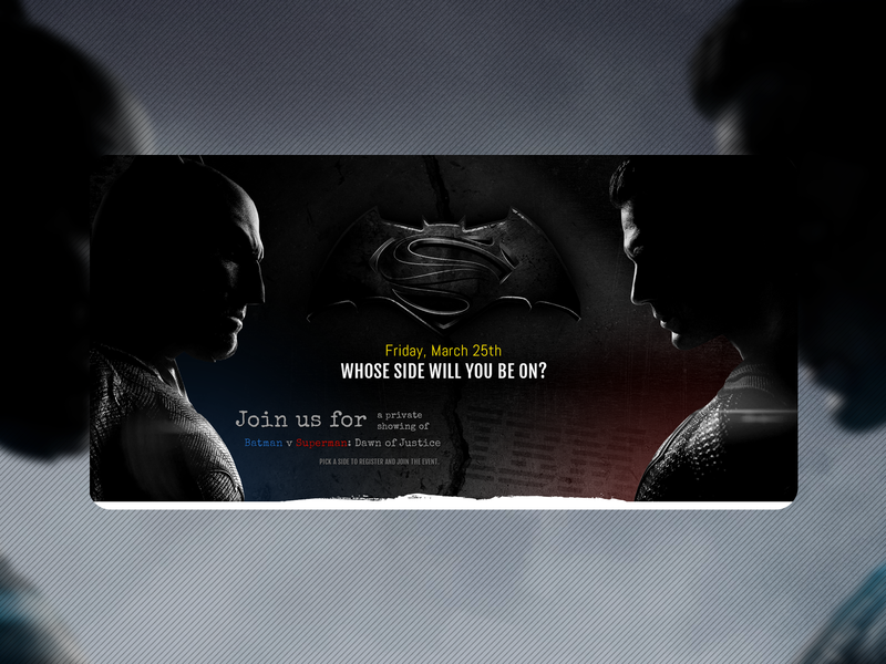 Batman V Superman Premiere Website
