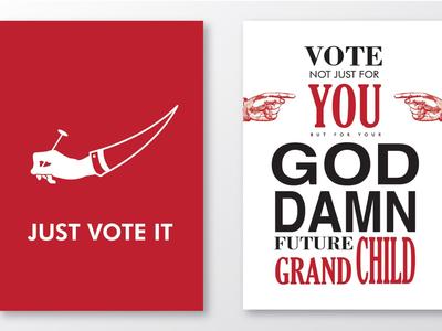 Vote Typography Poster
