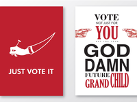 Vote Typography Poster
