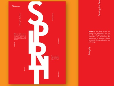 Typography Poster - S.P.I.R.I.T