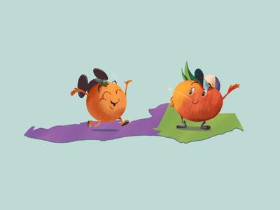 Neighborly Love aiga painting illustration funny cute georgia florida peach orange hugnecks creative south