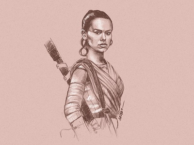 Rey Of Sunshine sketch fanart illustration star wars day may the fourth star wars rey