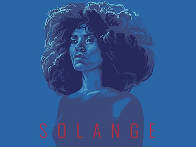 Solange people solange knowles portraiture portraits musician music minimalist illustration portrait solange